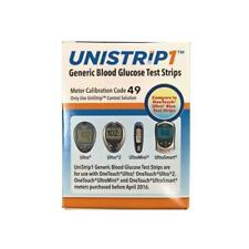 OneTouch Unistrip Blood Glucose Test Strips 4 Boxes of 50 Total 200 Test Strips