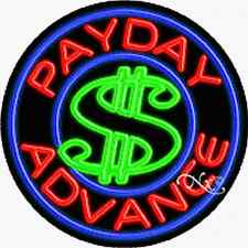 "Brand New ""Payday Advance Open"" 26x26 Real Neon Sign w/Custom Options 11158"