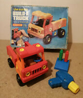 E** VINTAGE 1983 Matchbox Live n learn Build a truck Educational toy