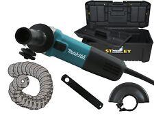 Makita Winkelschleifer 125 mm 9558 NBRZ 25x Bosch Trennscheiben + Stanley Koffer
