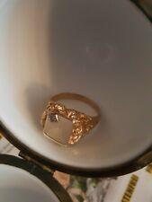 Herren Ring Gelbgold 585 14 K. 10.6 Gramm und Diamanten Princess Gut 0.10ct