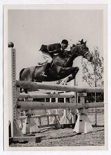 PHOTO ANCIENNE Cheval Saut d'obstacle Hippisme Équitation Jockey Vers 1950 Sport