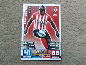 SADIO MANE MATCH ATTAX 2014 -2015 ROOKIE CARD SOUTHAMPTON #248