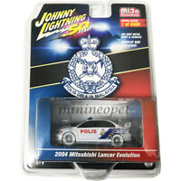 JOHNNY LIGHTNING JLCP7213 MITSUBISHI LANCER 1/64 MALAYSIA POLICE CAR WHITE Chase