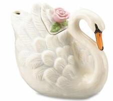New in Box White Swan Lenox Serene Swan Teapot 48 oz