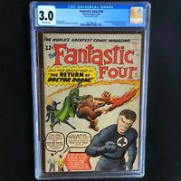 FANTASTIC FOUR #10 (1963) 💥 CGC 3.0 OW 💥 STAN LEE & KIRBY Appearance in Story!