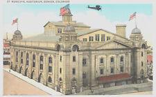Postcard-Municipal Auditorium, Denver CO, Hosted 1908 Democratic Convention