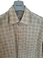 "Mens chic PRADA long sleeve shirt size large 41"". Immaculate.... RRP £375"
