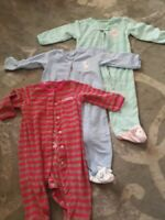 Lot of 3 Carters baby girl size 9 months