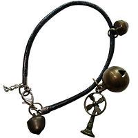 Fan Charm Bracelet Wristband Friendship Cuff Bangle Womens Girls Kids Jewellery