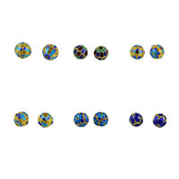 6pcs Filigree Gold Plated Spacer Beads Round Beads for DIY Necklace Bracelet