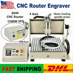 USB 4 Axis 1.5KW 6040 CNC Router Engraver Drill Milling Machine +Controller 220V