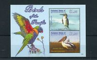 Micronesia 2009 MNH Birds of Pacific 2v S/S Parrots Booby Pelican