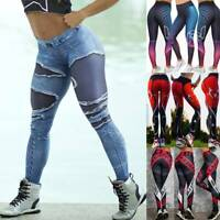 Women Sport Compression Fitness Leggings Jogging Yoga Gym Pants Workout Trousers