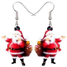 Acrylic Christmas Santa Claus Bag Earrings Drop Dangle Jewelry For Women Gifts