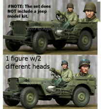 Alpine miniatures, 35242, jeep Segunda Guerra Mundial nos Driver (1 Fig. con 2 cabeza diferentes), 1:35