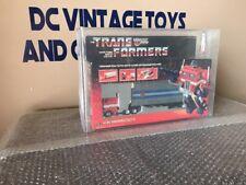 Vintage 1984 Transformers Original G1 Optimus Prime AFA 80/85/85 Hasbro