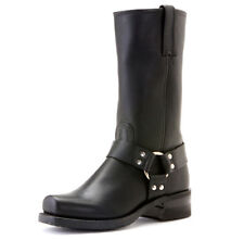 NEW FRYE Mens Harness 12R Black Oiled-leather Boot Size 7.5 M Biker/Motorcycle