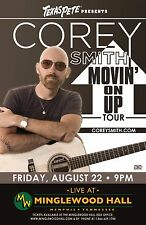 """COREY SMITH """"MOVIN' ON UP TOUR"""" 2014 MEMPHIS CONCERT POSTER - Americana Music"""