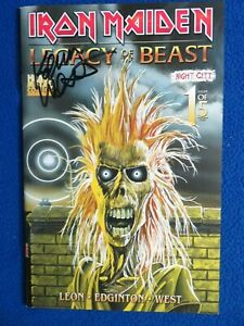 IRON MAIDEN  LEGACY OF THE BEAST #1 GLOW IN DARK SAN DIEGO  LTD ED #127 SIGNED