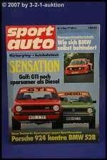 Sport Auto 5/77 BMW Alpina 528 E12 Porsche 924 + Poster