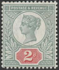 1887 JUBILEE SG199 2d GREEN & SCARLET UNMOUNTED MINT BRANDON CERTIFICATE (COPY)