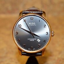 *MIDO Baroncelli II Jubilee Automatic Chronometer Gold Plated Stainless Watch