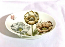 Fitz & Floyd Pastel Poppy w Butterfly Soap Dish, Excellent Condition, 1976
