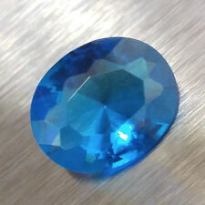 HIGH QUALITY Loose 8X10MM Oval Cut SIMULATED BLUE TOPAZ / Glass