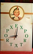 Old Vintage Export A Cigarette Clock  Canadian Rare Advertizing Cig For Smokers