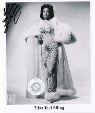 Signed Toni Elling Stripper Striptease Exotic Dancer Burlesque 8x10 BW Photo