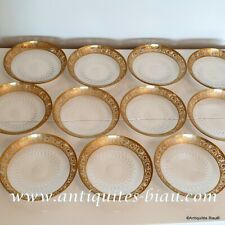 Little Plate 15cm in crystal Saint - Louis - Thistle gold in perfect condition