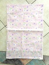 Flannette Bubba Blue Butterfly Garden baby girls cot pillowcase pink w flower