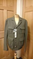 BNWT Rare Diesel Jaribba Pleated Military Style Jacket 3Made In Italy Size M H2