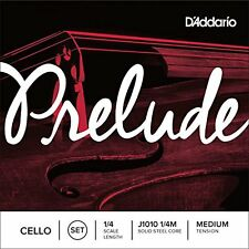 D'Addario Prelude Cello String Set, 1/4 Scale, Medium Tension
