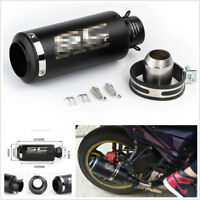 Stainless Steel Inlet 36-51mm Motorcycle Exhaust Pipe Muffler With Accessories