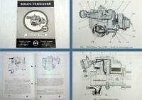 Solex 32 PHN Flachstrom Vergaser Betriebsanleitung 1962 VW 1500 Typ 3