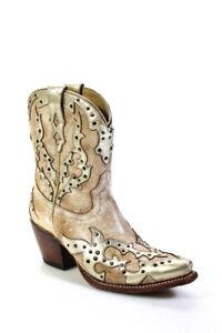 Ariat Womens Sapphire Western Boot Beige Gold Size 8.5 B