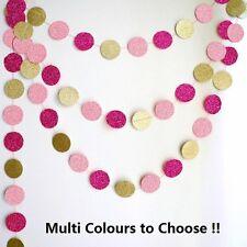 3M Glitter Circle Bunting Garland Drop - Multi Colors to Choose!!! DIY