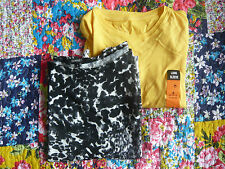Two Brand new T-shirts Size 8 Yellow one with long sleeves  Primark & Dunnes