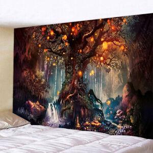 Wandbehang Tapisserie 3D Baum Phantasielandschaft Stofftapisserie Strandtuch Neu