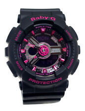 Casio BA111-1A Baby-G Ana / Digi Neon Pink Dial Black Resin Band Women Watch NEW