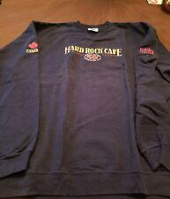 Hard Rock Cafe Niagara Falls Canada, Blue Embroidered Sweatshirt, X- Large (XL)