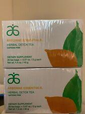 Arbonne Essentials Herbal Detox Tea 20 Tea Bags Caffeine Free 2 Pack Tea Box