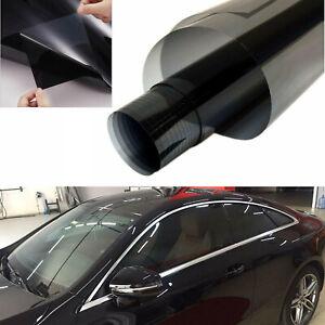 25% VLT PET Side Window Tint Film Uncut DarkBlack Glass Sun Shade Universal