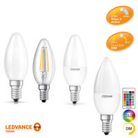 OSRAM LEDVANCE LED CANDLES 4w 5w Small Edison Screw Dimmable 2700k 4000k RGBW