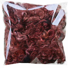 REAL MOHAIR LOCKS for Spinning Felting Knitting Doll Hair Rooting Wigs, Brown