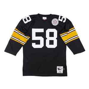 Pittsburgh Steelers Jack Lambert #58 Mitchell & Ness Black 1975 Authentic Jersey