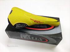 NOS Vintage Selle Italia FLITE GENUINE GEL Retro Cycling Saddle YELLOW NIB MINT
