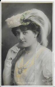 """RARE GENUINE VINTAGE POSTCARD,EDWARDIAN ACTRESS""""MISS OLIVE MORREL""""1906,RP"""